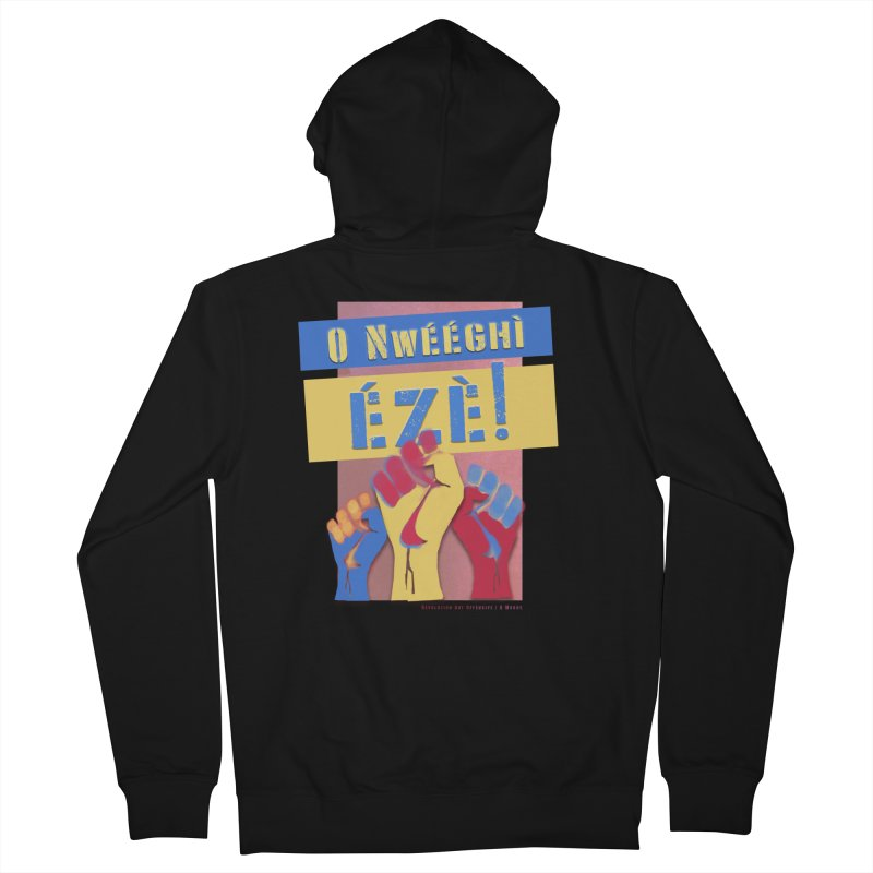 No Place for Kings Igbo in Color Women's French Terry Zip-Up Hoody by Revolution Art Offensive