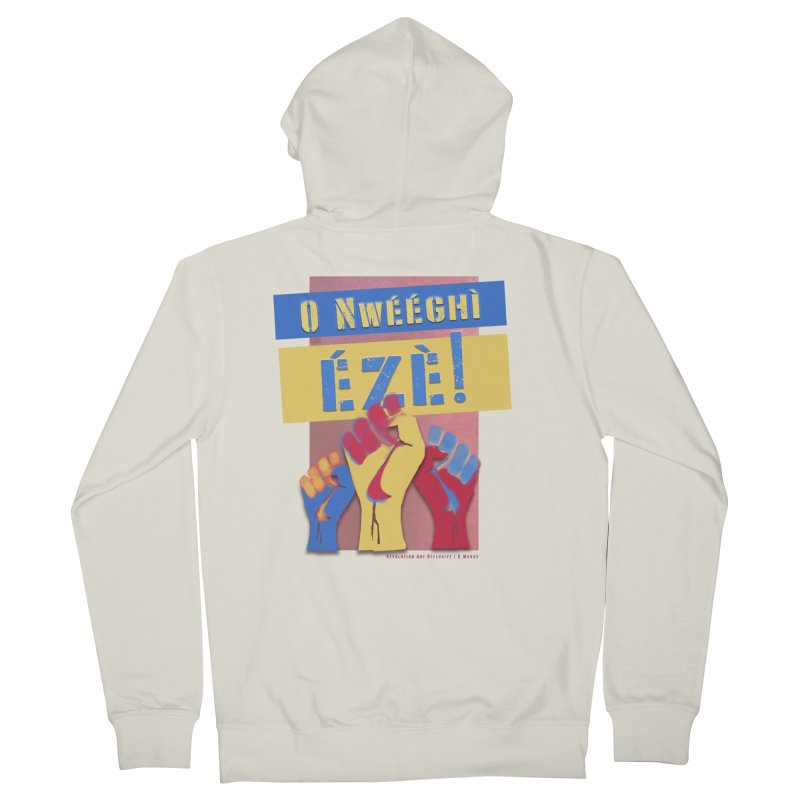 No Place for Kings Igbo in Color Women's Zip-Up Hoody by Revolution Art Offensive