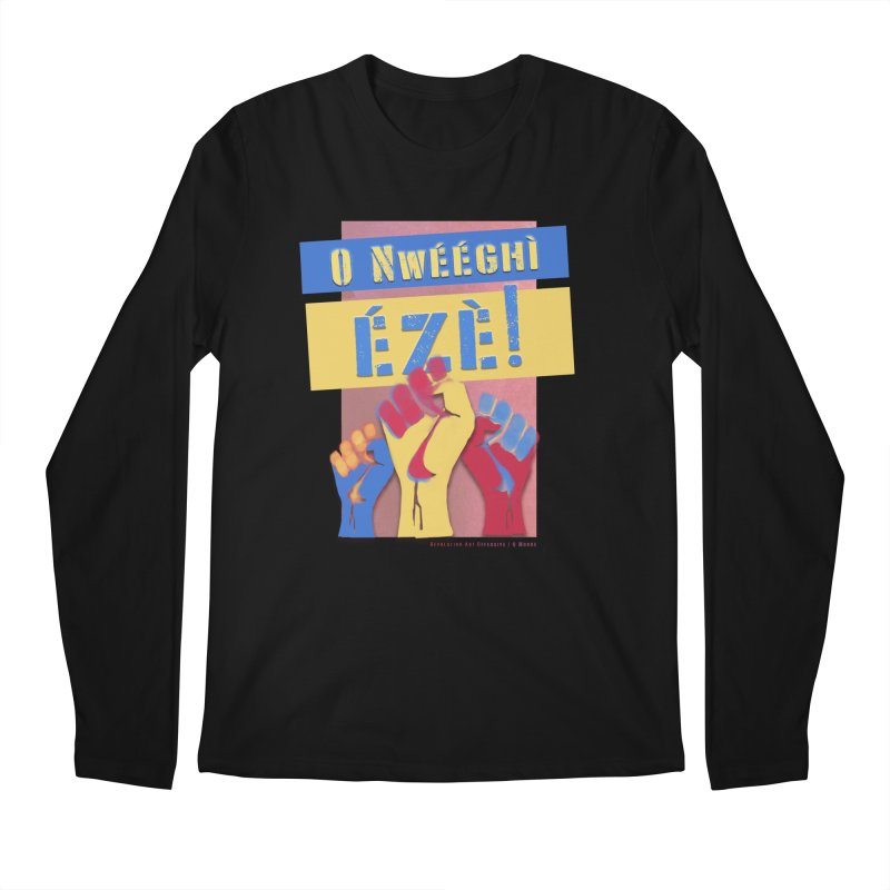 No Place for Kings Igbo in Color Men's Regular Longsleeve T-Shirt by Revolution Art Offensive