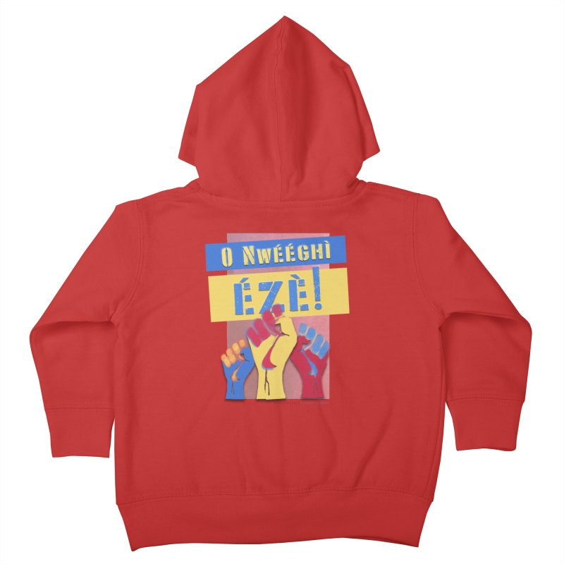 No Place for Kings Igbo in Color Kids Toddler Zip-Up Hoody by Revolution Art Offensive