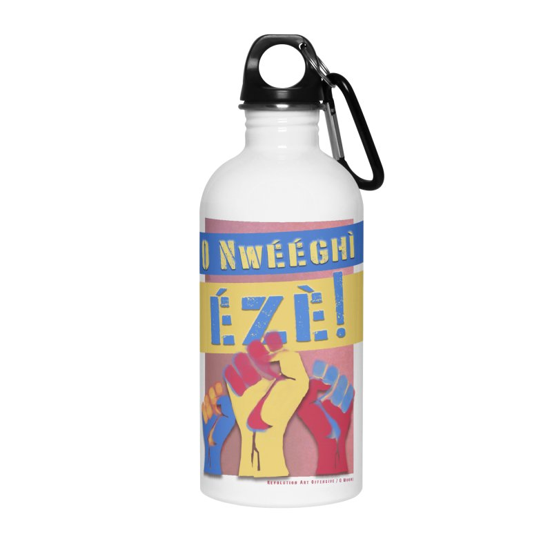 No Place for Kings Igbo in Color Accessories Water Bottle by Revolution Art Offensive