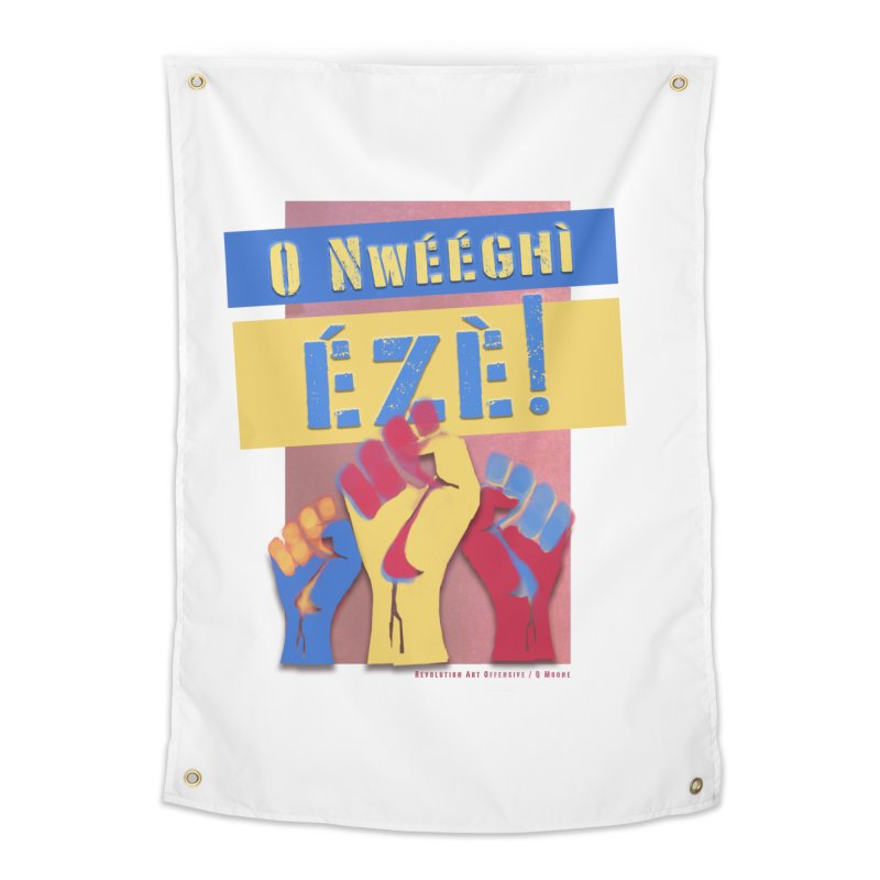 No Place for Kings Igbo in Color Home Tapestry by Revolution Art Offensive