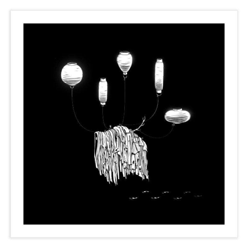 Lantern Monster 1 Home Fine Art Print by REWFOE