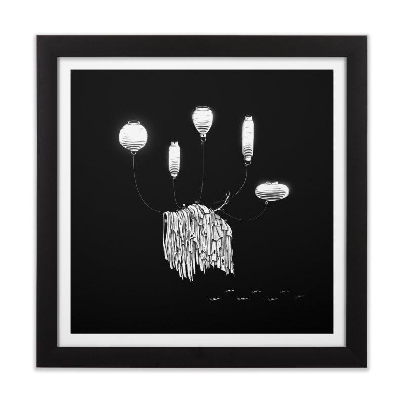 Lantern Monster 1 Home Framed Fine Art Print by REWFOE