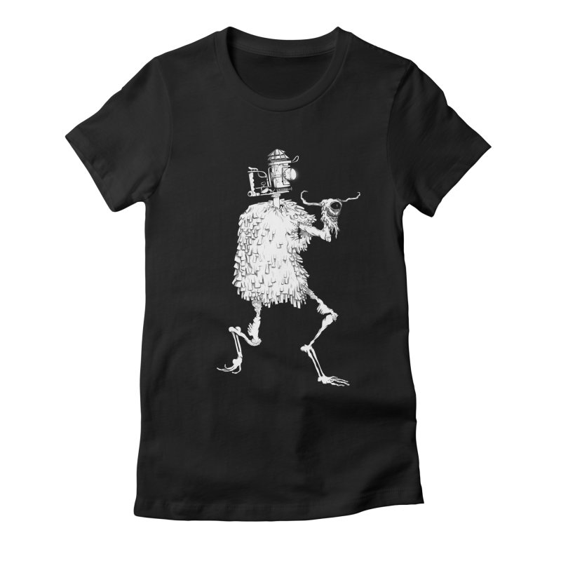 Lantern Monster 2 Women's Fitted T-Shirt by REWFOE