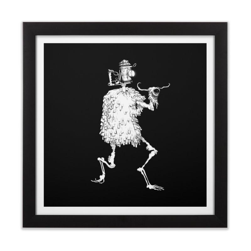 Lantern Monster 2 Home Framed Fine Art Print by REWFOE