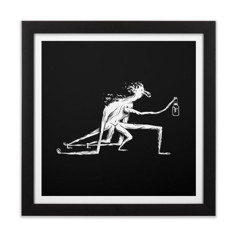 Lantern Monster 3 Home Framed Fine Art Print by REWFOE