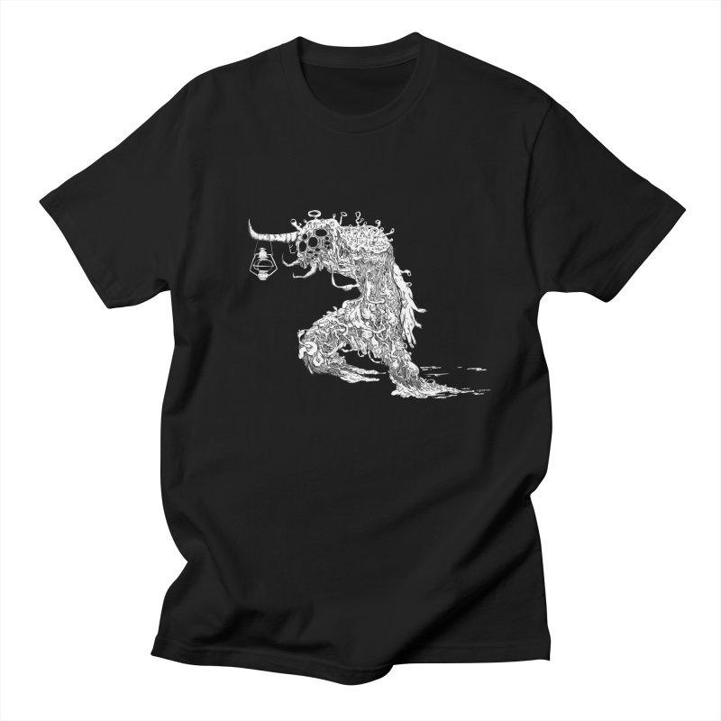 Lantern Monster 4 Men's T-Shirt by REWFOE