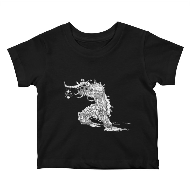 Lantern Monster 4 Kids Baby T-Shirt by REWFOE