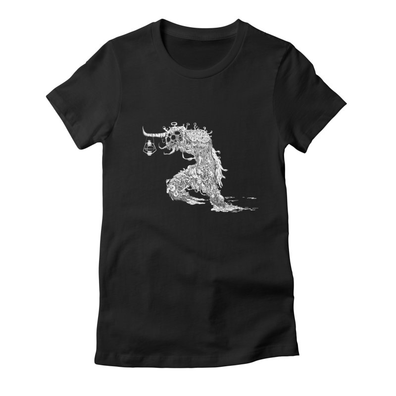 Lantern Monster 4 Women's Fitted T-Shirt by REWFOE