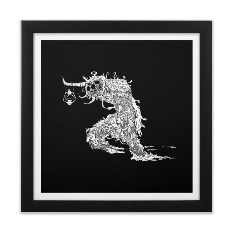Lantern Monster 4 Home Framed Fine Art Print by REWFOE
