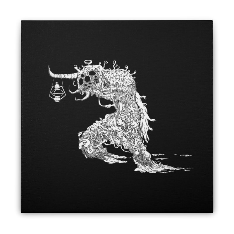Lantern Monster 4 Home Stretched Canvas by REWFOE