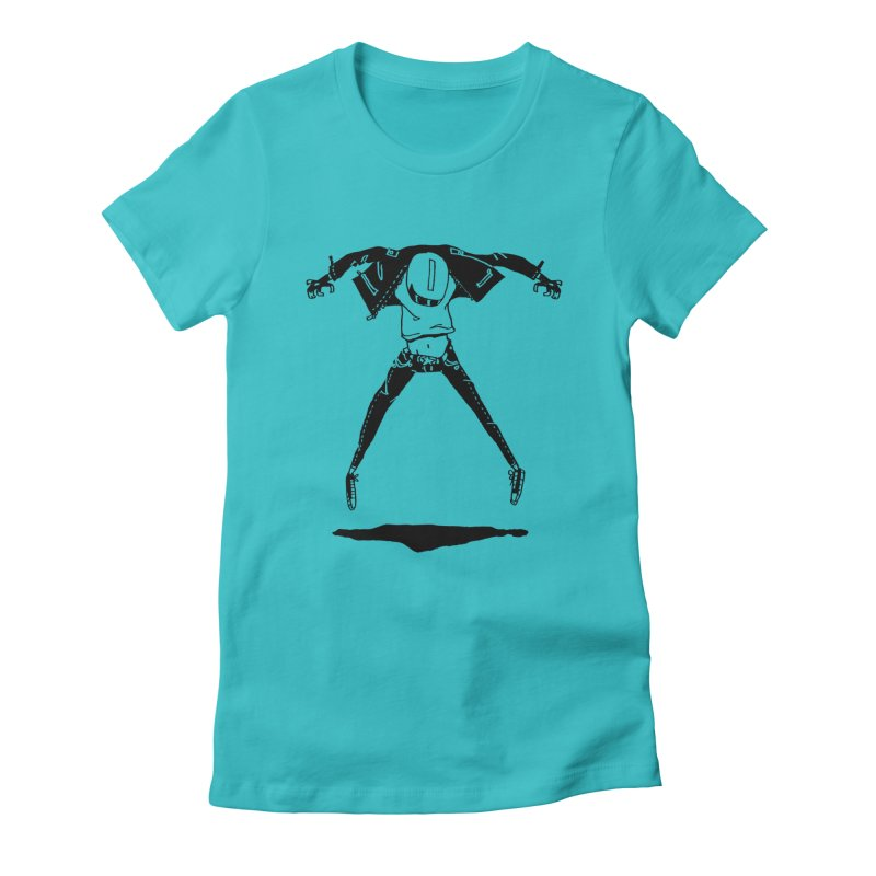 Jumper Guy Women's Fitted T-Shirt by REWFOE