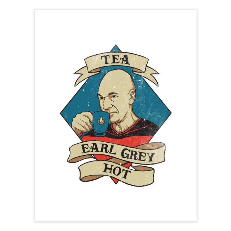 EARL GREY Home Fine Art Print by RGRLV
