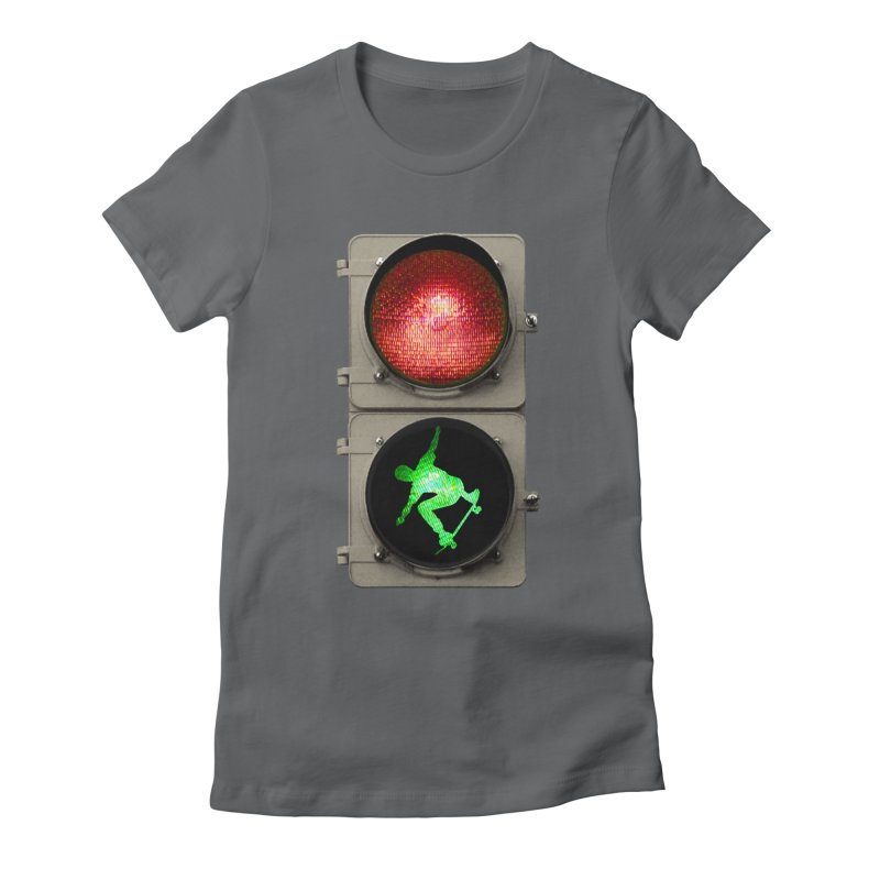 Skate, don´t go! Women's Fitted T-Shirt by RHAD Shop