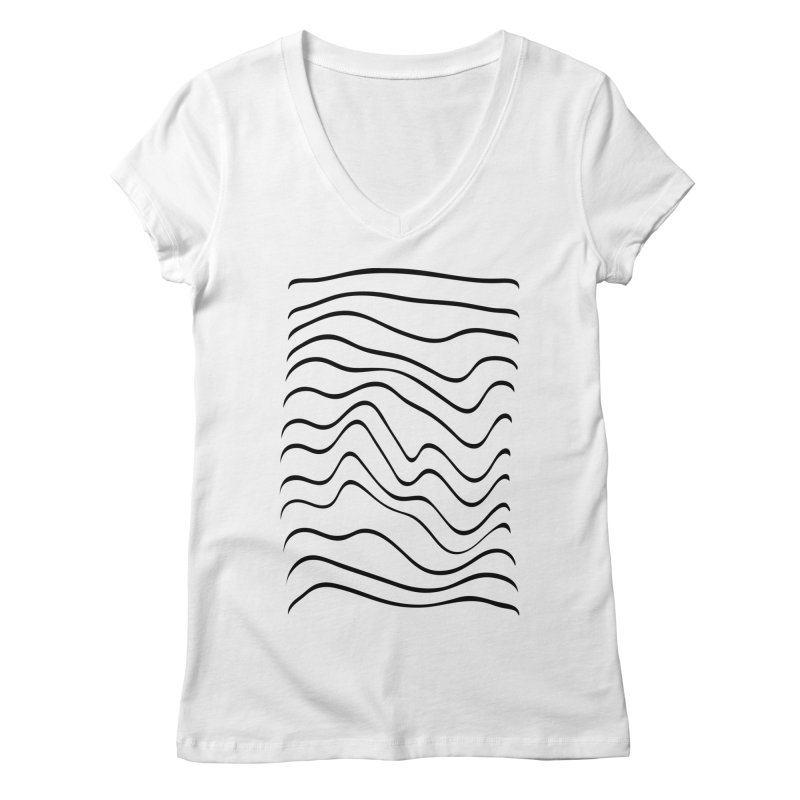 Wavelength White Women's V-Neck by RHAD Shop