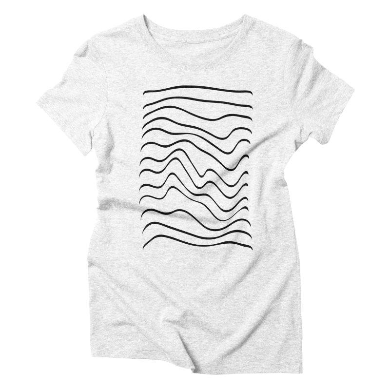 Wavelength White Women's Triblend T-shirt by RHAD Shop