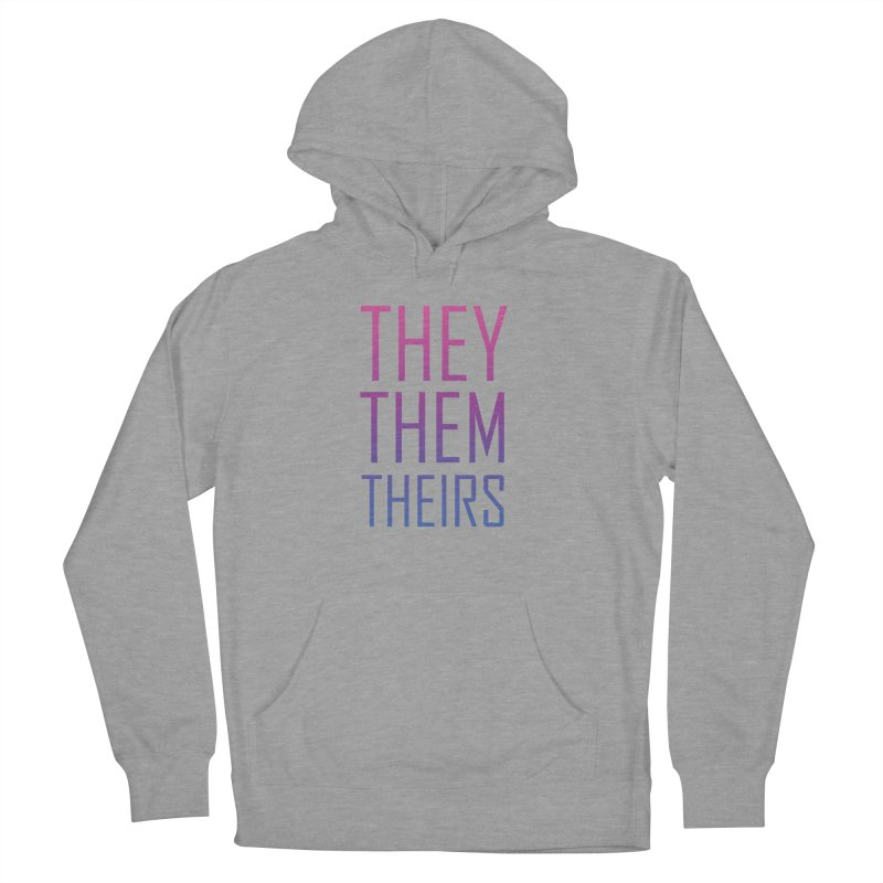 They/Them Bi Pride Men's French Terry Pullover Hoody by Rhea Ewing's Artist Shop