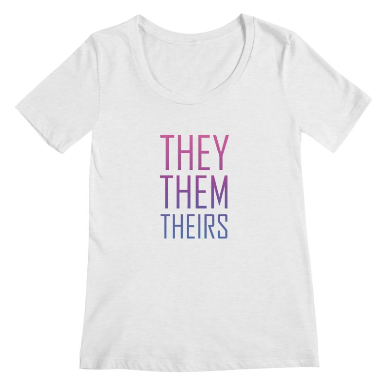 They/Them Bi Pride Women's Regular Scoop Neck by Rhea Ewing's Artist Shop
