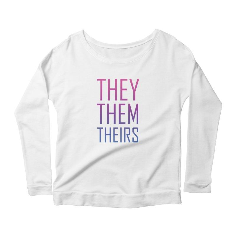 They/Them Bi Pride Women's Scoop Neck Longsleeve T-Shirt by Rhea Ewing's Artist Shop