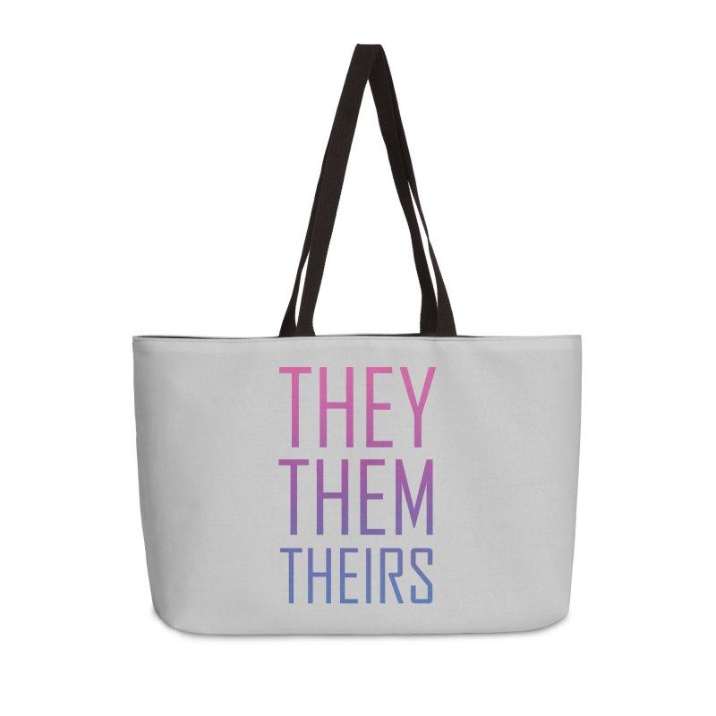 They/Them Bi Pride Accessories Weekender Bag Bag by Rhea Ewing's Artist Shop