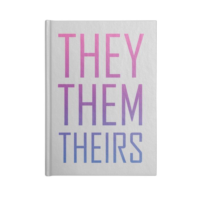They/Them Bi Pride Accessories Blank Journal Notebook by Rhea Ewing's Artist Shop
