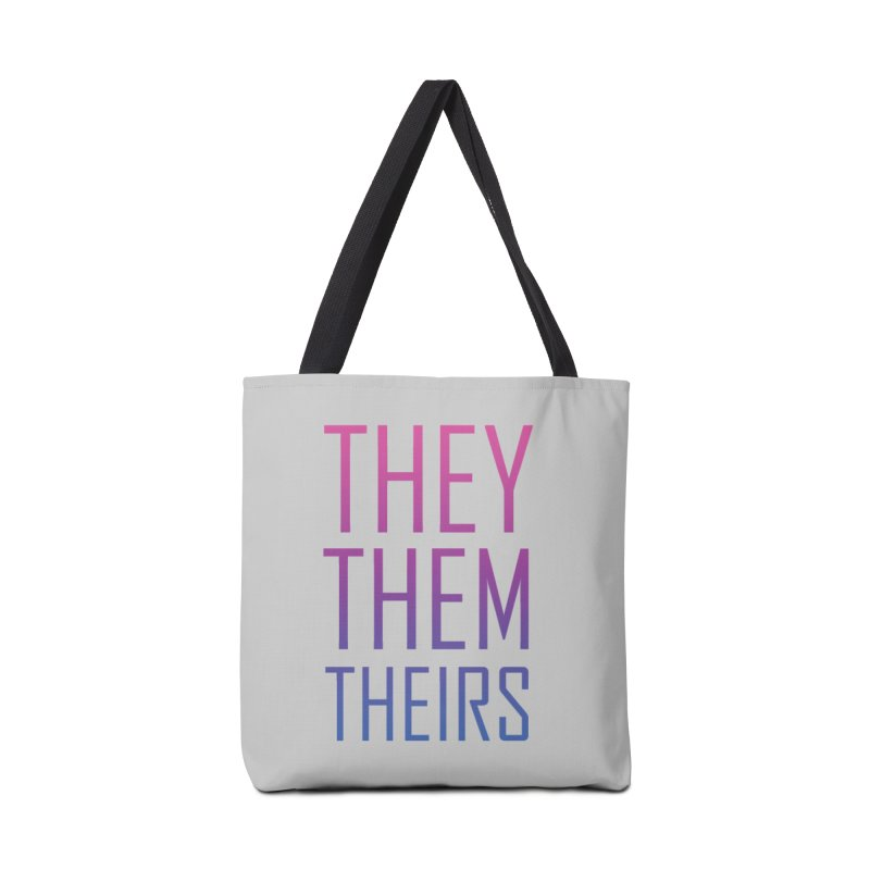 They/Them Bi Pride Accessories Tote Bag Bag by Rhea Ewing's Artist Shop