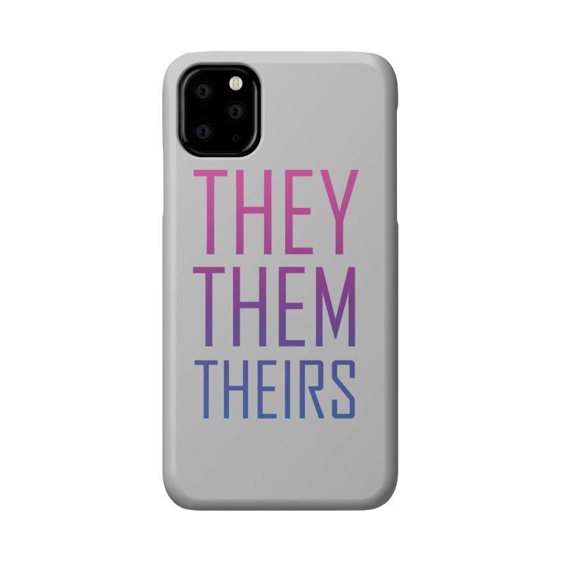 They/Them Bi Pride Accessories Phone Case by Rhea Ewing's Artist Shop