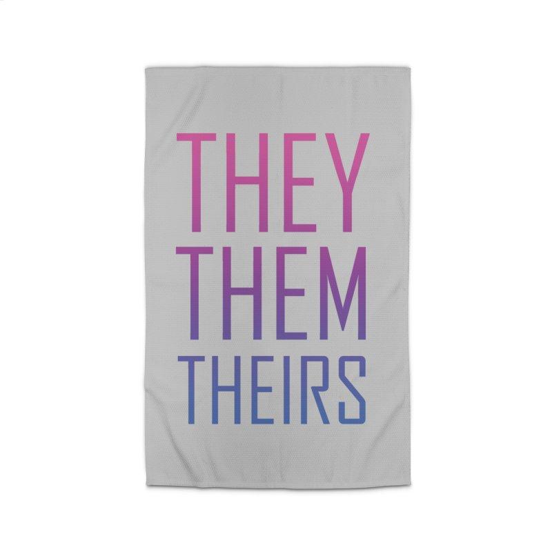 They/Them Bi Pride Home Rug by Rhea Ewing's Artist Shop