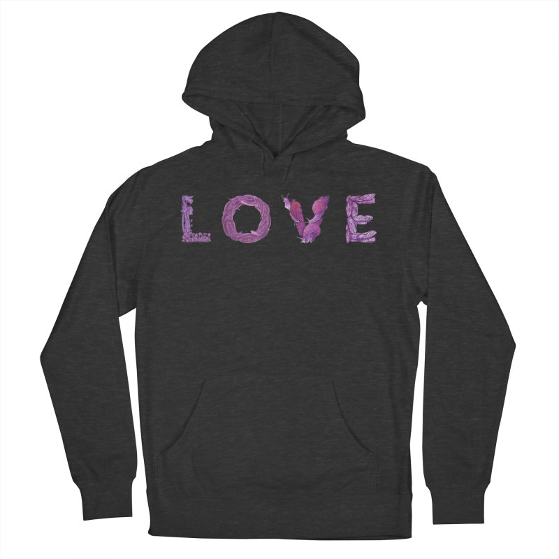 Love Men's French Terry Pullover Hoody by Rhea Ewing's Artist Shop