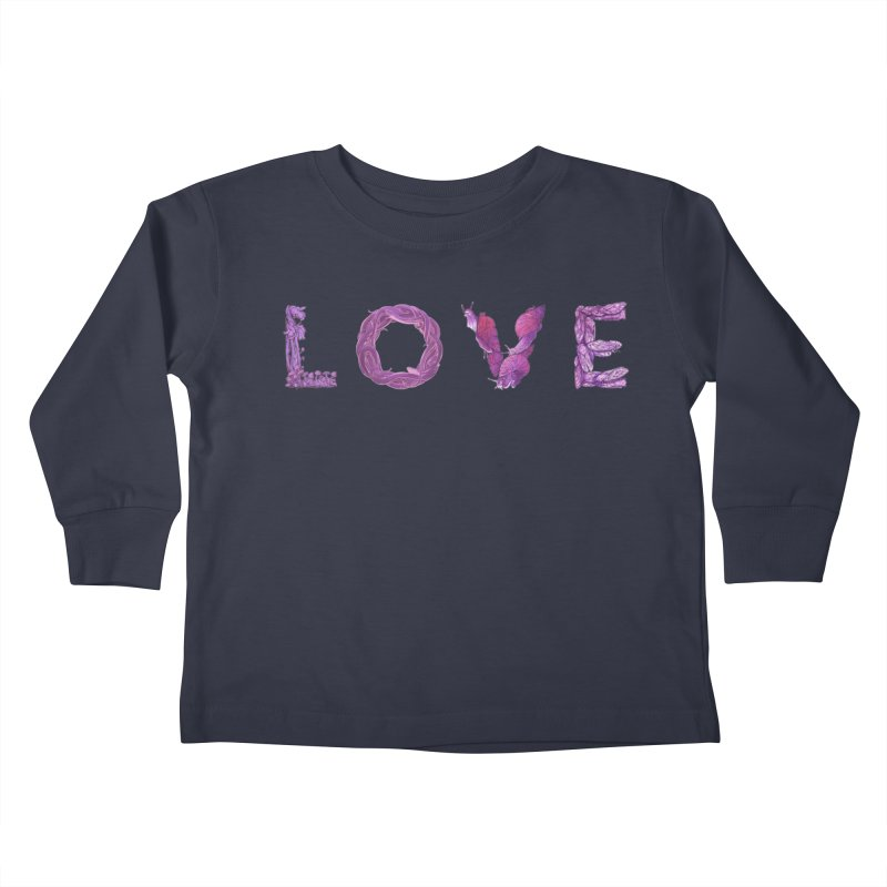 Love Kids Toddler Longsleeve T-Shirt by Rhea Ewing's Artist Shop