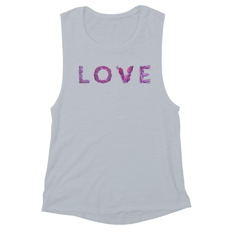 Love Women's Muscle Tank by Rhea Ewing's Artist Shop