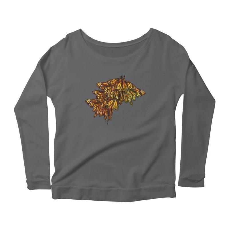 Cluster Women's Scoop Neck Longsleeve T-Shirt by Rhea Ewing's Artist Shop