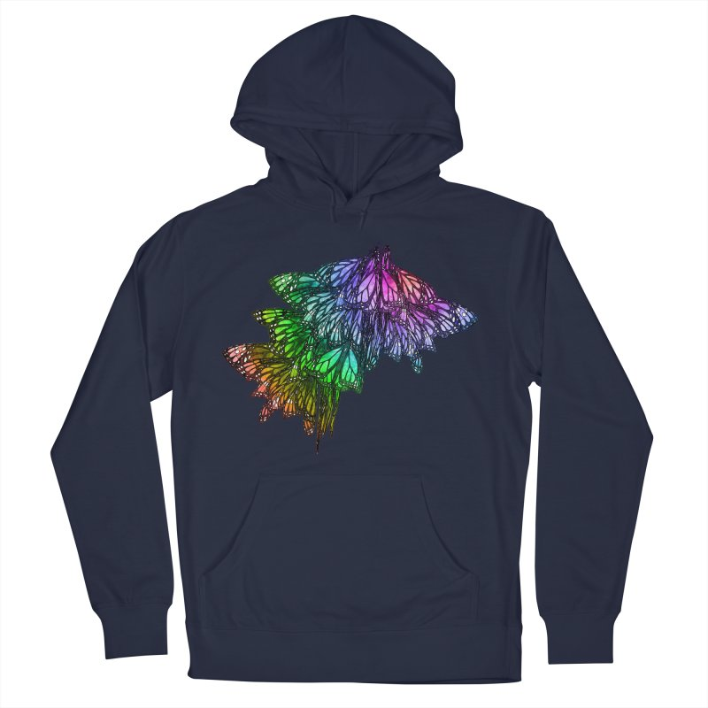 Rainbow Cluster Men's French Terry Pullover Hoody by Rhea Ewing's Artist Shop