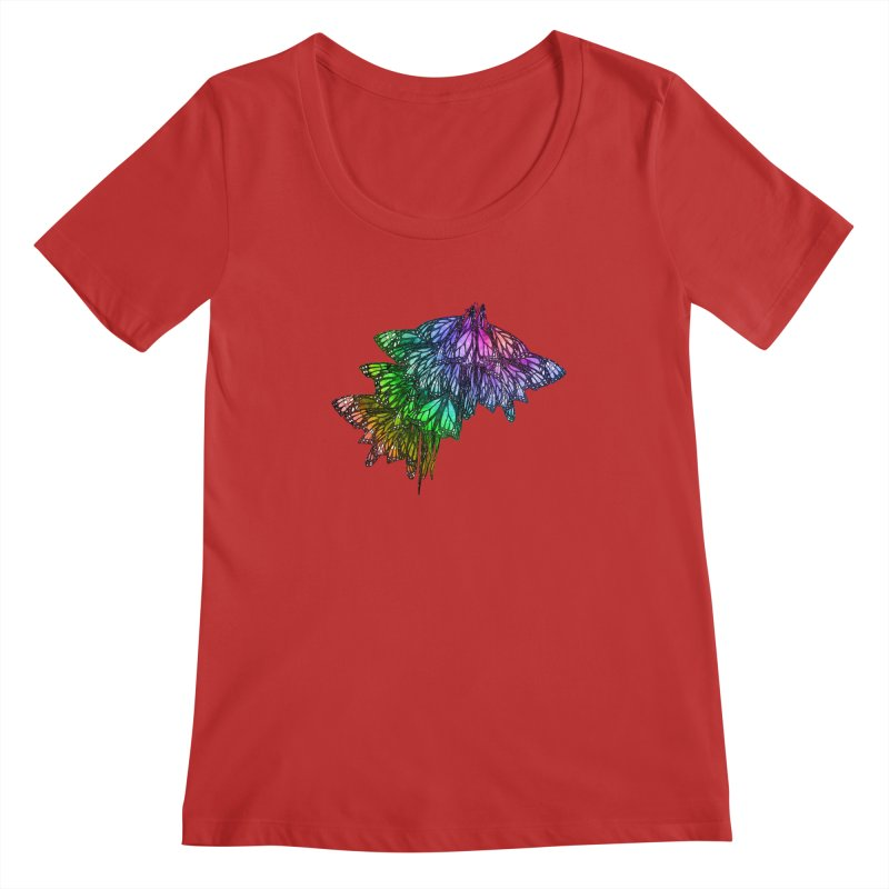 Rainbow Cluster Women's Regular Scoop Neck by Rhea Ewing's Artist Shop