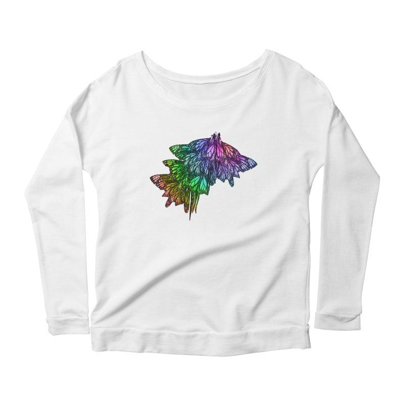 Rainbow Cluster Women's Scoop Neck Longsleeve T-Shirt by Rhea Ewing's Artist Shop