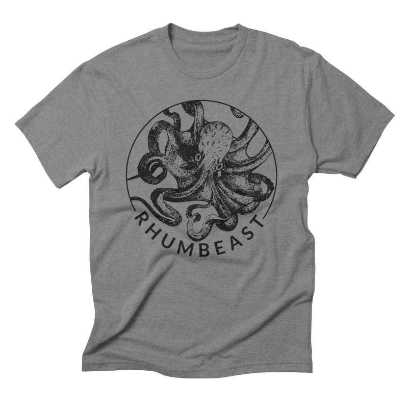 Classic Rhumbeast Black in Men's Triblend T-Shirt Grey Triblend by Rhumbeast Shop
