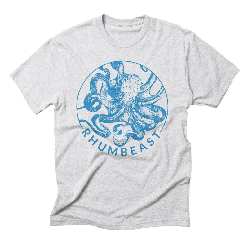 Rhumbeast in Caribbean Blue in Men's Triblend T-Shirt Heather White by Rhumbeast Shop