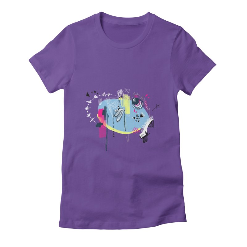 Yowo! Women's Fitted T-Shirt by riamizuko's Artist Shop