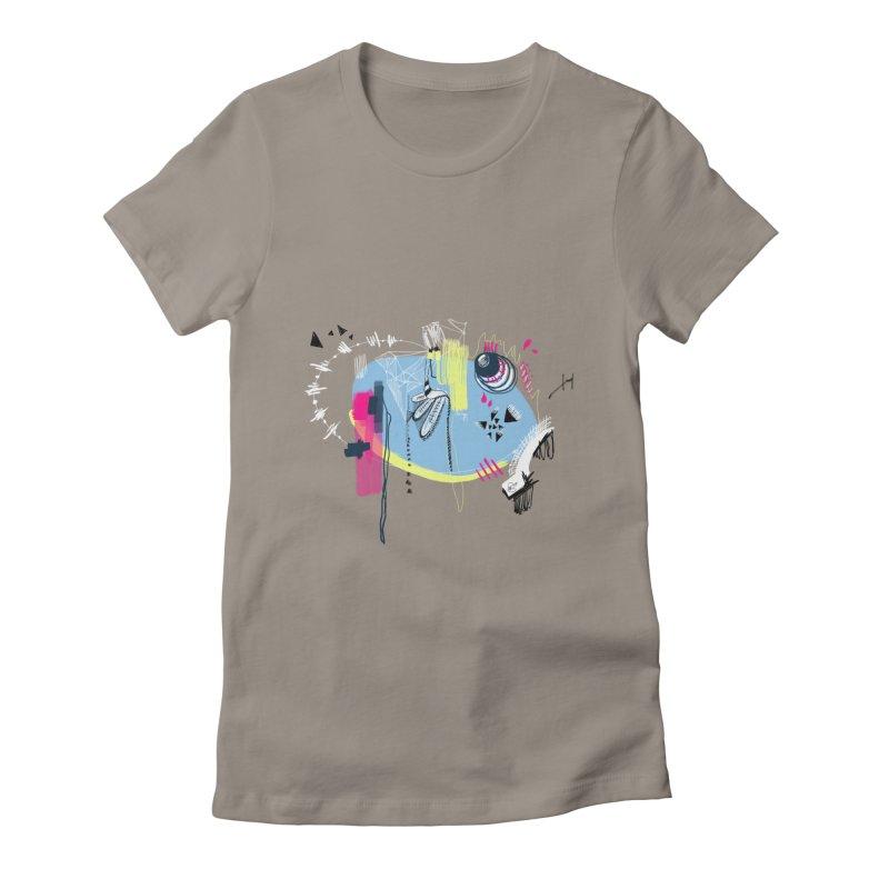 Yowo! Women's Fitted T-Shirt by riamizuko's Artist Shop