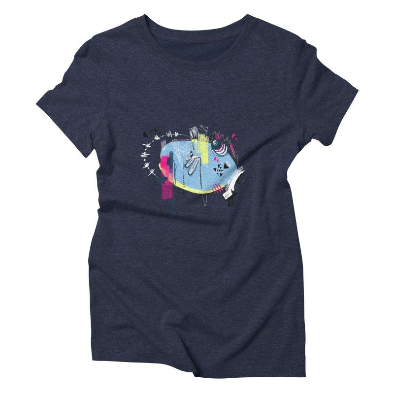 Yowo! Women's Triblend T-shirt by riamizuko's Artist Shop
