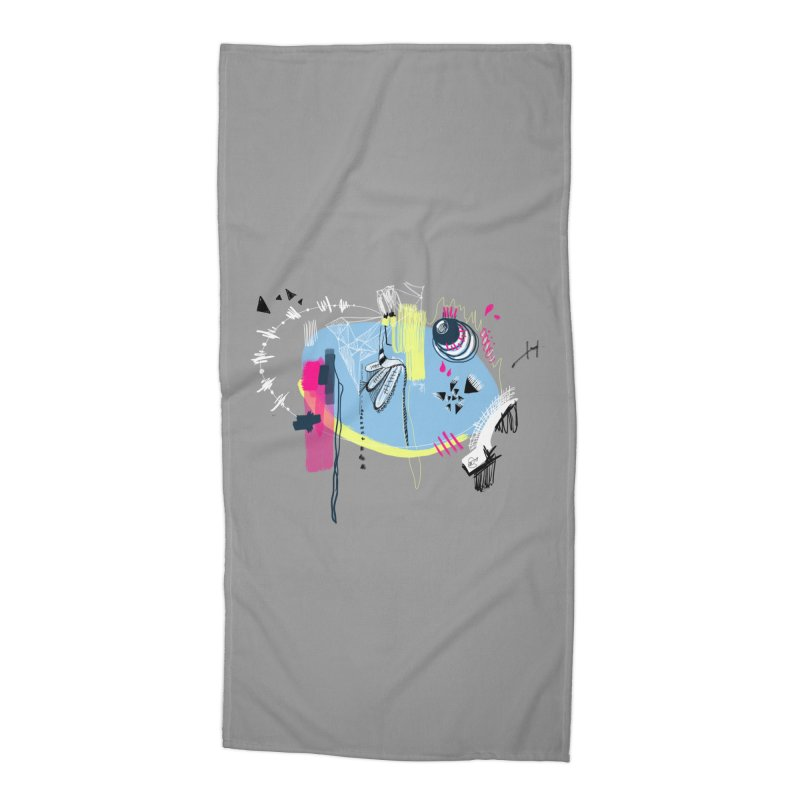 Yowo! Accessories Beach Towel by riamizuko's Artist Shop