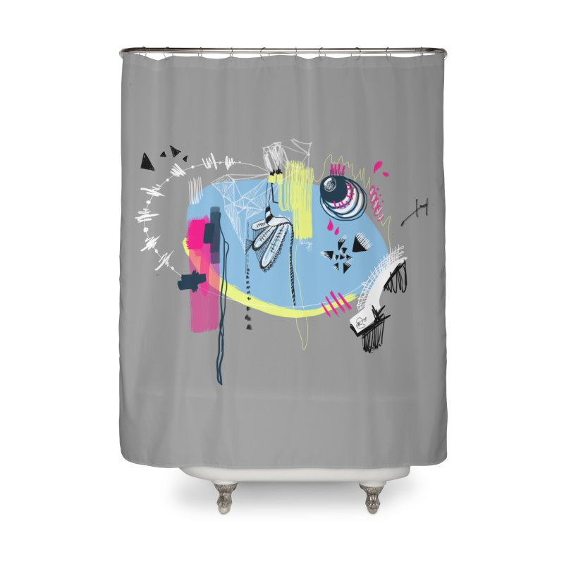 Yowo! Home Shower Curtain by riamizuko's Artist Shop