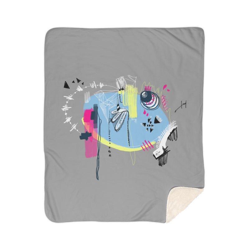 Yowo! Home Sherpa Blanket Blanket by riamizuko's Artist Shop