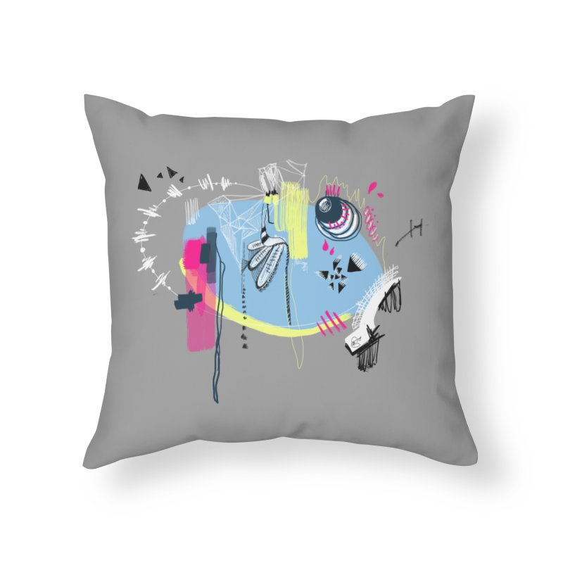 Yowo! Home Throw Pillow by riamizuko's Artist Shop