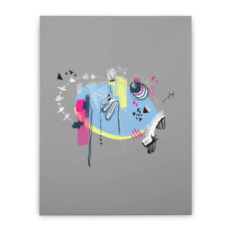 Yowo! Home Stretched Canvas by riamizuko's Artist Shop