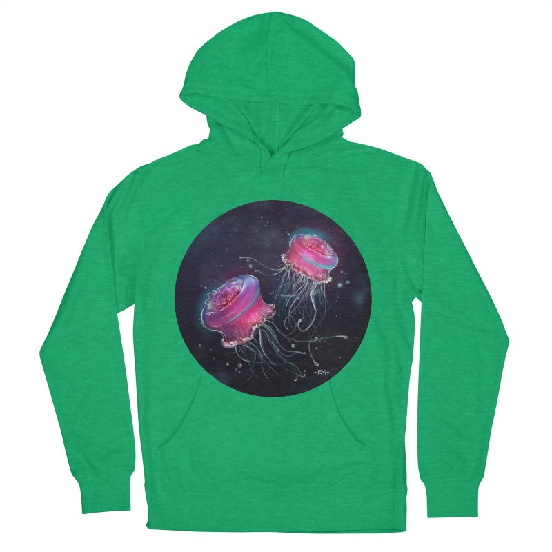 Medusa Women's French Terry Pullover Hoody by riamizuko's Artist Shop