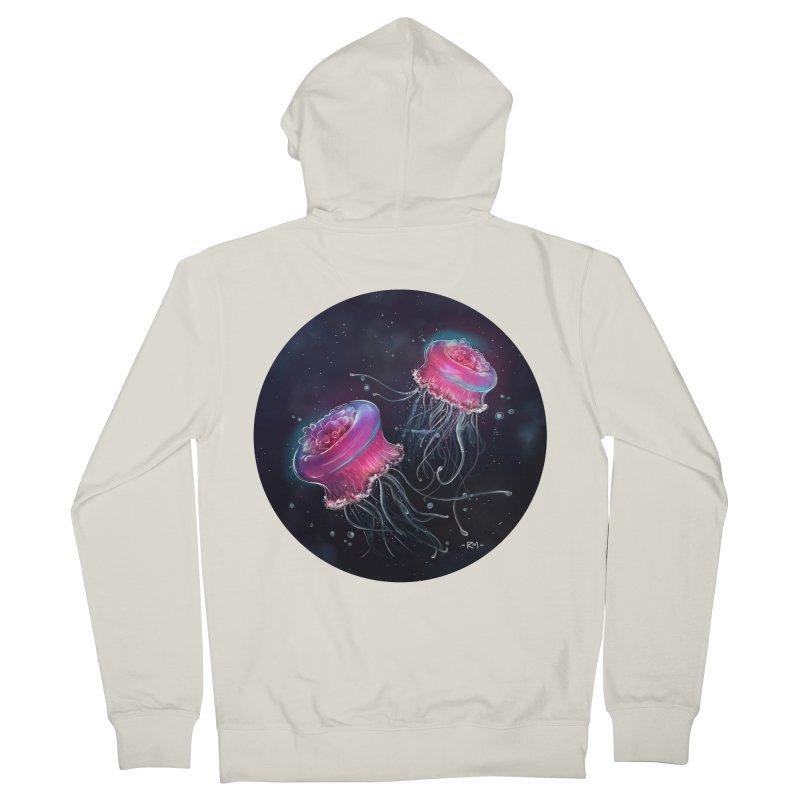 Medusa Women's French Terry Zip-Up Hoody by riamizuko's Artist Shop