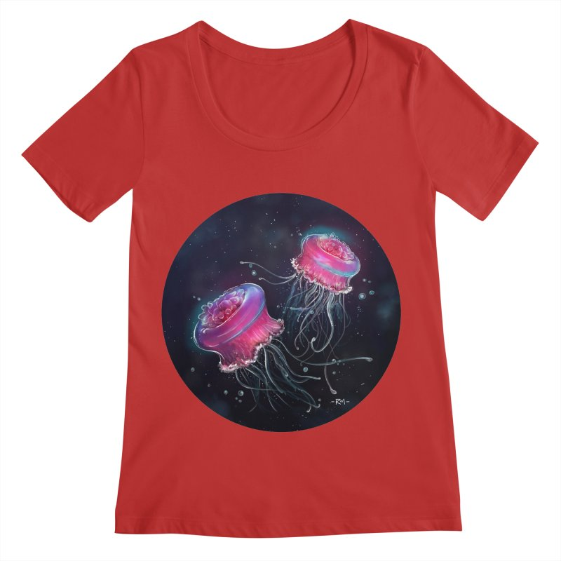Medusa Women's Regular Scoop Neck by riamizuko's Artist Shop