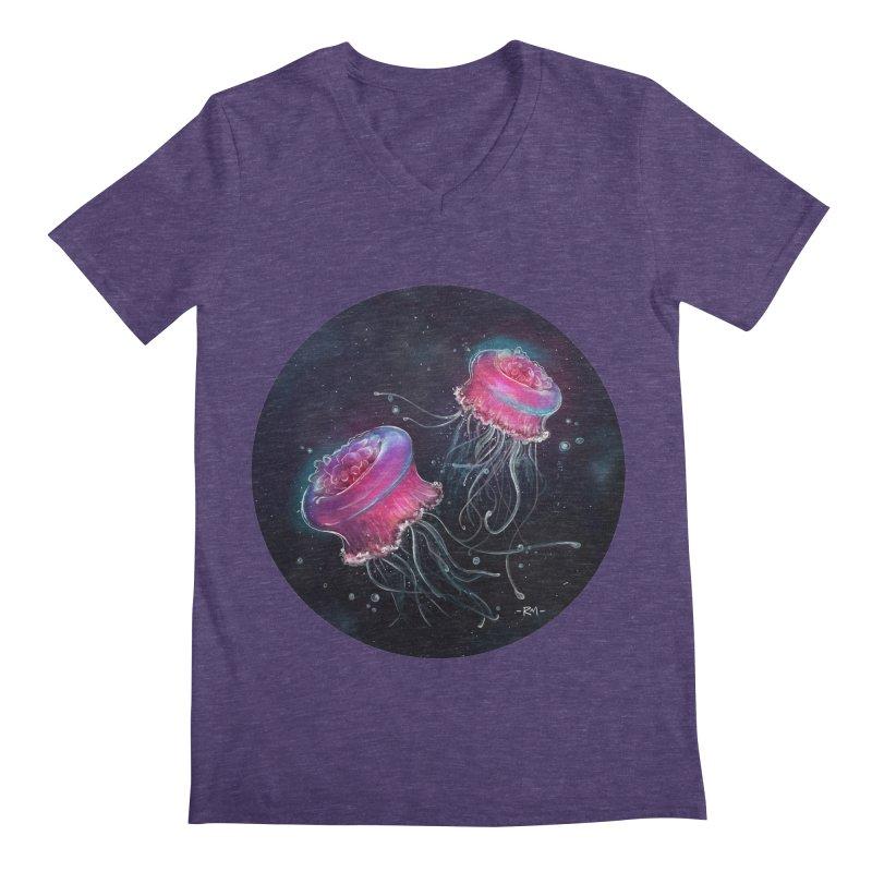 Medusa Men's Regular V-Neck by riamizuko's Artist Shop